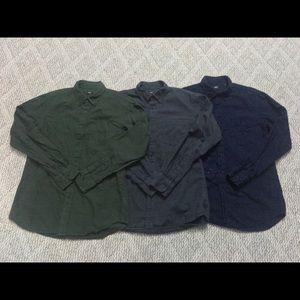 3 Uniqlo Oxford Cotton Shirt bundle